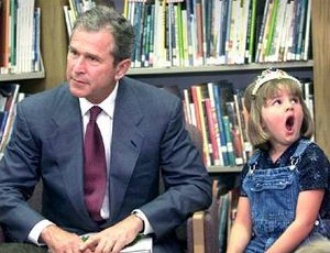 George Bush and girl